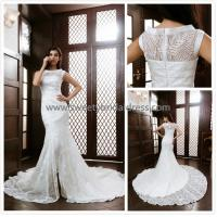 Quality Mermaid & Trumpet High Neck Beading Lace Bridal Dress XG007 for sale