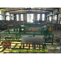 Quality 3m Full Automatic Double Wire feeding Chain Link Fence Making Machine for sale