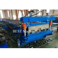 Quality Metal Sheet Floor Decking Roofing Roll Forming Machines with Embossing Rollers Design for sale