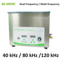 Quality Effective Tabletop Multi Frequency Ultrasonic Cleaner Systems 40KHz / 80KHz / 120KHz for sale