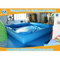 Quality 0.9MM PVC Swimming Inflatable Water Pool / Air Tight Water Pool With Cover for sale