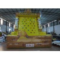 Quality Egypt Tower Tour Inflatable Rock Climbing Wall Waterproof Fireproof PVC 5 X 4 X 6m for sale