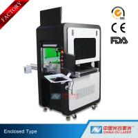 Buy cheap High Precision Big Enclosed Fiber Laser Marking Machine 100W with Conveyor from wholesalers