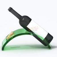 Quality Red Advertising Display Stand Acrylic Wine Bottle Holder For Wine Promotion for sale