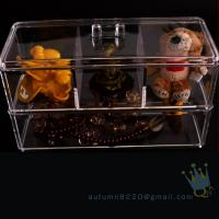 Quality clear acrylic jewelry organizer box for sale