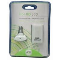 Buy 3800mah battery pack & chargeable cable for xbox 360 at wholesale prices