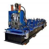 Full Automatic Z Purlin Roll Forming Machine With Punching PLC Control System for sale
