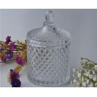 Buy Elegant White Glass Dome Candle Holder Personalised Glass Jars With Lid at wholesale prices