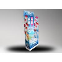 Quality 4C Printing Corrugated Floor Bottles Display Stand , Beverages Paper Display for sale