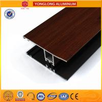 Quality Wood Grain Stereoscopic Aluminum Window Profiles Environmental Protection for sale