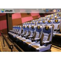 Quality Arc Screen 4D Cinema Equipment Simulator Motion Chairs Customized Color SGS for sale