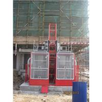 Quality Twin Cage Construction Lifts / Hoist Elevator High Speed for Building for sale