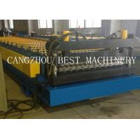 Quality Galvanized Corrugated Roofing Sheet Roll Forming Machine 6kw Power 1200mm Feeding Width for sale