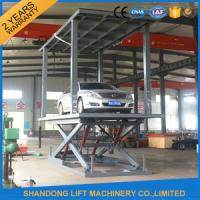 Quality Car Lift Ramps Double Deck Car Parking System with Electricity Leakage Protection Device for sale