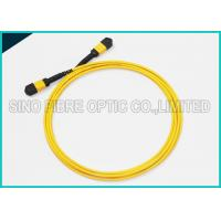 Quality 40Gbps 3.0mm 12 Array MPO to MPO Singlemode SMF-28e Fibre Optical Riser Rated Patch Cable for sale