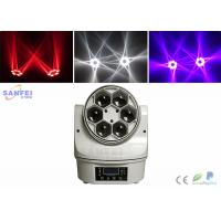 Quality 6pcs 25W RGBW LED Beam Moving Head Light , Mini Christmas Party Stage Led Lighting for sale