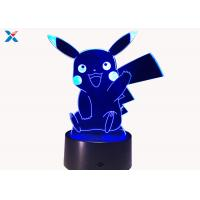 Quality Colorful Acrylic Light Guide Panel 3D Light Guide Night Light Pikachu PokéMon for sale