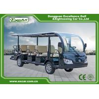 China Green / Black 14 Seater Electric Sightseeing Bus KDS Motor 72V 7.5KM on sale