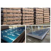 Buy cheap 3004 H18 H14 Aluminum Sheet With Blue Cover Film 1mm - 3mm Typical Thickness from wholesalers