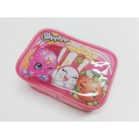 Buy Cute & Lovely Girl Pink Vinyl Zipper Pouches , Non-toxic Clear Plastic Makeup at wholesale prices