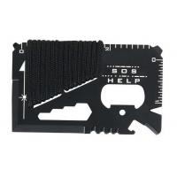 Quality 11-in-1 multifunctional credit card survival knife camping tool for sale
