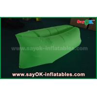 Quality Green Nylon Ripstop Fabric Inflatable Sleeping Bag / Air Sofa For Adults CE for sale