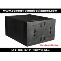 China Line Array Sound System / 2x18 Horn Loaded 4ohm 1200W Subwoofer For Concert And Living Event on sale