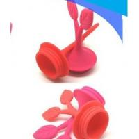 China Promotional gifts tree leaf shape Wine accessories silicone rubber bottle stopper  on sale