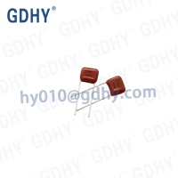 Quality Subminiature Metallized Polyester Capacitor Cl21x MEF 0.22uf 100v/63v P7.5 for sale