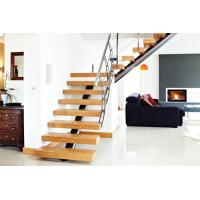 Buy cheap wood straight staircase, indoor mono stringer staircase for house from wholesalers