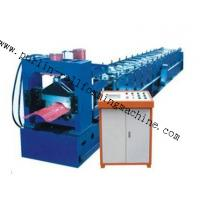 Quality 7.5Kw Tile Roof Ridge Cap Roll Forming Machine 0.3mm - 0.7mm for Steel Prefab House for sale