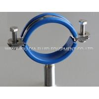 Quality SS304 Stainless Steel Pipe Clip Loose With Blue PVC Insert In Sanitary Produce Line for sale
