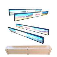 Quality Wall Mounted Ultra Wide Digital Signage , Metal Shell Waterproof Lcd Display for sale