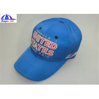 Quality Embroidery 100% Polyester 6 Panel Baseball Sports Cap / Mens Baseball Caps for sale