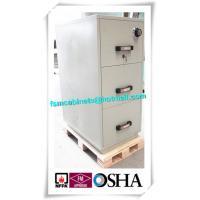 Quality 3 Drawer Fire Resistant Filing Cabinets For Storing Documents In Hotel / Office for sale