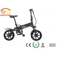 Quality Battery Powered Motorized Folding Bicycle , Long Range Foldaway Electric Bike for sale