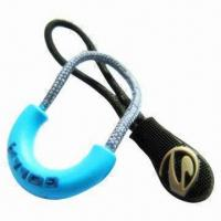 Quality Silicone Zipper Pulls for Garments, 2/3D Logos, Various Sizes and Shapes Available for sale