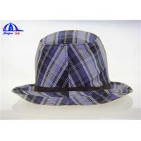 Quality Customized Adult Lattice Printed Bucket Hats with 100% Polyester Fabric for sale