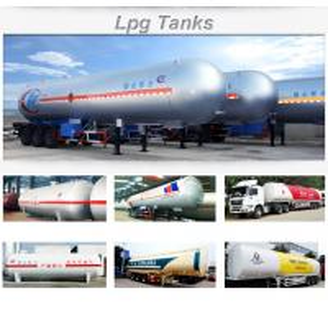 Quality 3 axles 58cbm propane LPG semitrailers for sale
