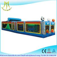 Quality Hansel new design long inflatable obstacle for kids and adults for sale