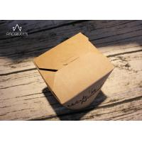 China Kraft Paper Takeaway Food Containers Noodles Boxes Flexo Printing / Offset Printing on sale
