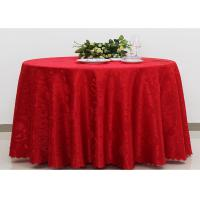 Quality Polyester Jacquard Plain Linen Table Cloths For Wedding Party Oilproof Fire Retardant for sale