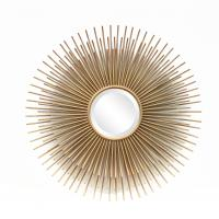 Quality FR-15402 sunburst wall mirror for home decoration in metal with gold leaf for sale