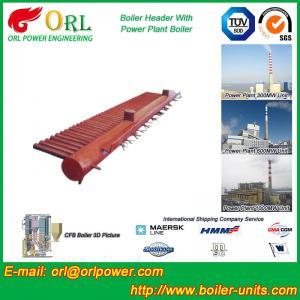 Quality Water Tube Boiler Header Manifolds TUV Standard , Water Boiler Header for sale