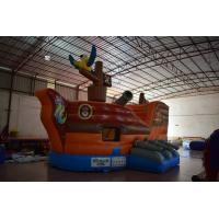 Quality Small Inflatable Pirate Ship For Children / Fire Resistence Inflatable Jump House for sale
