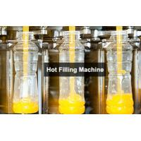 Quality 3-In-1 Monoblock Hot Filling Machine , Automatic Bottled Juice Filler for sale