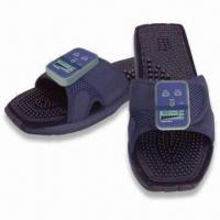 Quality Feel Welaxe Massaging Slippers with Therapeutic Massage Soles and Leg Clamps for sale