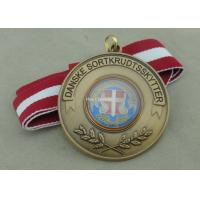 Quality Zinc Alloy Material Soft Enamel Ribbon Medals Antique Brass Plating for sale