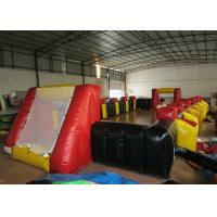 Quality Funny Football Yard Inflatables , Blow Up Soccer Field 12 X 6m Fire Resistance for sale