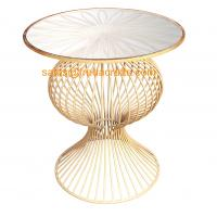 """Quality """"S"""" Style Round Mirror Top Metal Base with Hand foil Finish Coffee Table in Wholesale for sale"""